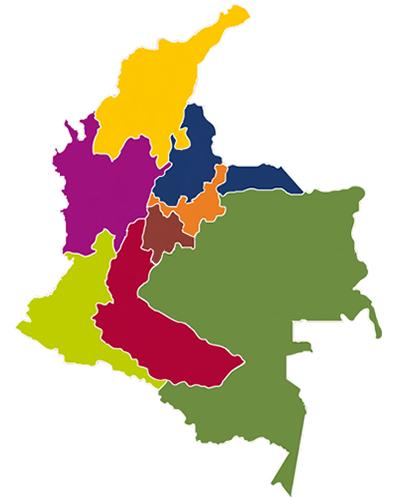 Mapa distribucion geografica